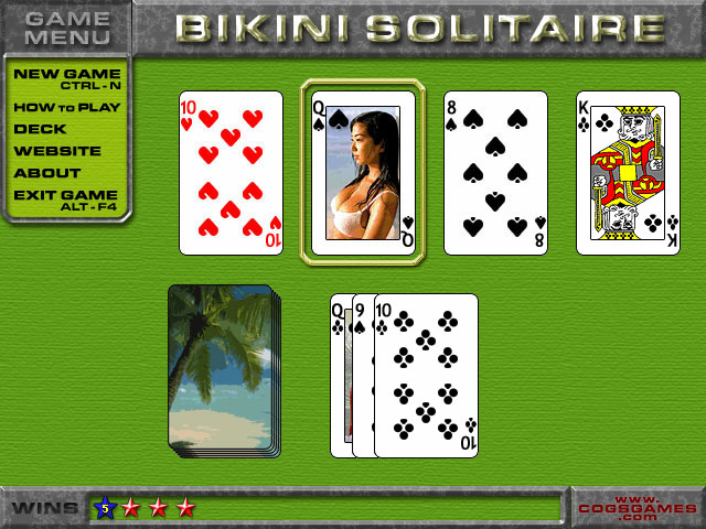 Adult card game nude solitaire